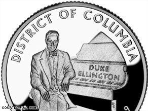 The District of Columbia coin honoring Duke Ellington was introduced Tuesday in Washington.