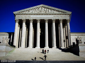The Supreme Court issued a ruling in a voting rights case Monday.