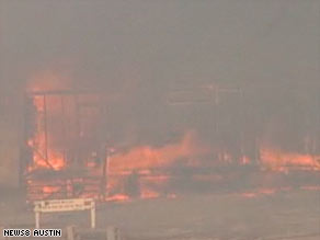 Texas' drought, as well as low humidity and high winds, is said to have contributed to the blaze.