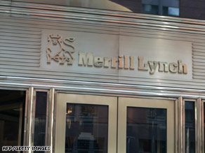 Merrill Lynch faces accusations of secretly doling out big bonuses before reporting a huge quarterly loss.