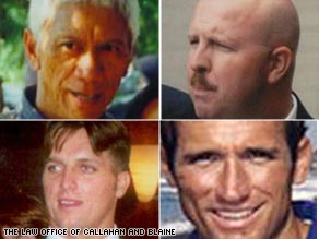 Clockwise from upper left: Wesley Batalona, Mike Teague, Scott Helvenston, Jerry Zovko