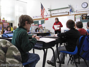 Jean Bonner teaches fourth-graders last month at Middleburg Elementary in suburban Washington.