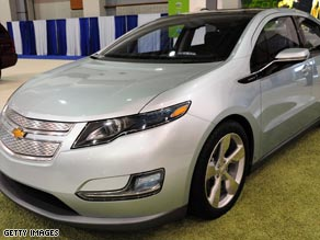 The Chevy Volt is one of the electric cars being developed by Michigan's auto industry.