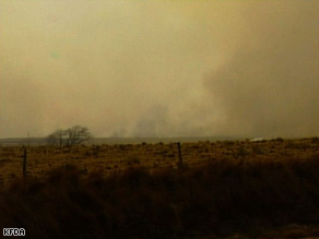 Wildfires in the Texas panhandle are being fed by sustained winds of about 40 mph.