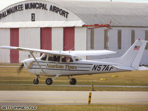 A small Cessna aircraft was stolen from a flight school in Thunder Bay, Canada.