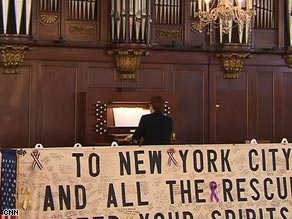 Haskel's rehearsal marked the return to functionality of the chapel organ silenced on September 11, 2001.