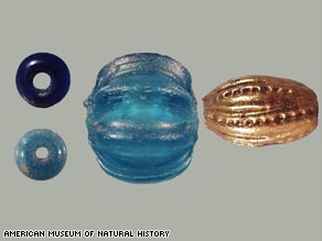 Of the 70,000 beads found over the decades, a few were in the walls of a church that had fallen.