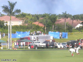 Teams are trying to figure out what happened Sunday at the polo club in Wellington, Florida.