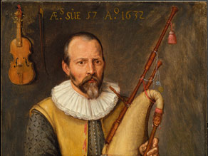 """""""Portrait of a Musician Playing a Bagpipe"""" was done in 1632 by an unknown artist."""