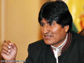 Bolivian President Evo Morales maintains the U.S. ambassador was plotting against Morales' government.
