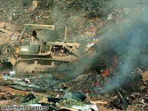 Burn pits produced thick black smoke and toxic fumes, according to plaintiff Richard Guilmette.