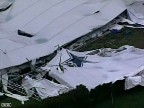 A photojournalist from CNN affiliate WFAA captured the collapse of the practice facility on Saturday.