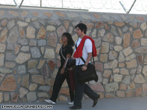 Marina Diaz and Alejandro Caballero cross a U.S.-Mexico border checkpoint on the way to school each day.