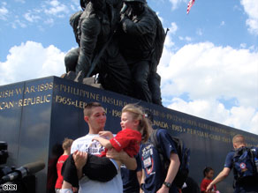 """Marine Maj. John Ruocco committed suicide. Son Joey, right, wonders if there was """"something I could have done."""""""