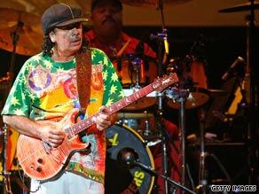 Carlos Santana plays a May concert at the Hard Rock Hotel and Casino in Las Vegas, Nevada.