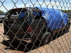 This Ford Excursion was packed with 22 passengers inside when it crashed in Arizona late Saturday night.