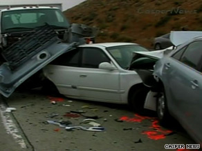 A multi-vehicle wreck stopped traffic on a popular route between Los Angeles and Las Vegas.