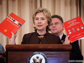Secretary of State Hillary Clinton says the report aims &quot;to shine the light brightly on ... modern slavery.&quot;