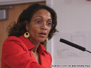 Baltimore Mayor Sheila Dixon, shown in April, once worked in a city jobs program as a youth.