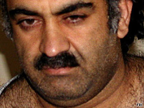 Alleged 9/11 planner Khalid Sheikh Mohammed was held in secret and moved to Guantanamo Bay, Cuba.