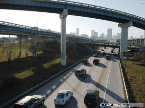 The Texas Transportation Institute reports commute times saw a small dip in 2007.