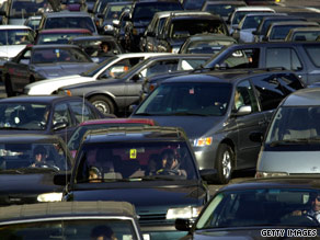 Americans spend a little less time in traffic, a study shows, but drivers on I-110 in Los Angeles might not notice.
