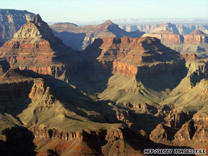 About 5 million people visit the Grand Canyon in Arizona each year.