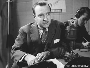 Walter Cronkite is shown during a broadcast for CBS in 1951.