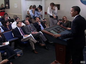 President Obama on Friday explains to reporters the details of a phone conservation with Sgt. James Crowley.