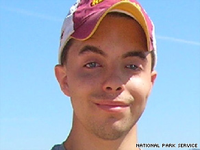 Bryce Gillies, 20, left last Saturday for a backpacking trip, saying he would return Monday.