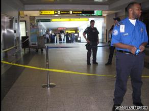 iReporter Jose Ojeda captured this image of crowds waiting to get into a LaGuardia Airport terminal Saturday.
