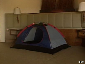 """For $19 a night, a customer gets a shell with a tent inside,"" says Rancho Bernardo Inn's John Gates."
