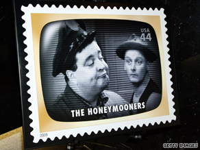 """The Honeymooners"" is one of 20 classic TV stamps that will soon find its way on the corner of envelopes."