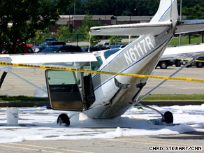 "The plane's pilot reported a ""rough-running engine"" before landing Tuesday, an FAA spokeswoman says."