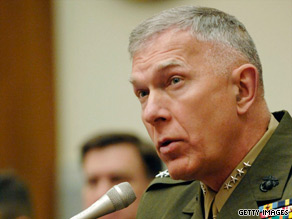 "Gen. James Conway has received suggestions on changing the ""golden hour"" policy, his aide says."