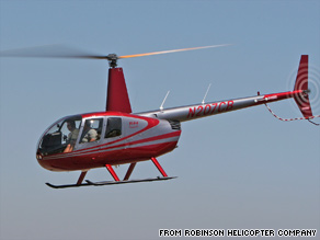 The Robinson R44 helicopter that crashed is similar to the one pictured here.