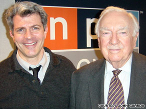 Jay Kernis with Walter Cronkite in February 2002.