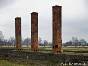 The former Birkenau death camp in Poland. It is widely accepted that about 5.7 million Jews died in the Holocaust.