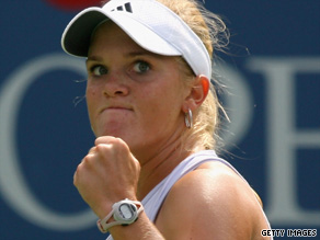 Melanie Oudin plays in the quarterfinals of the U.S. Open tennis championship Wednesday evening.