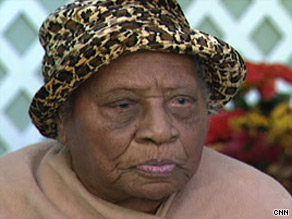 Gertrude Baines said she attributed her longevity to not drinking or smoking.