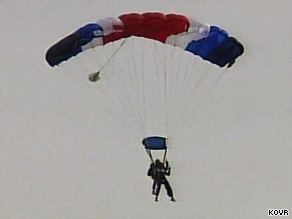 Jumps continue at the Parachute Center, where two parachutists died Sunday.