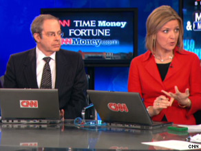 "Panelists Stephen Leeb and Christine Romans take part in ""CNN Money Summit: Money & Main St."""