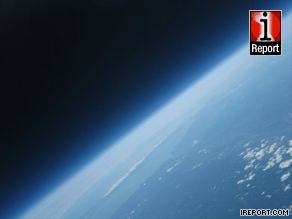 MIT students captured this photo from 18 miles above Earth.