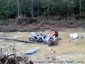 Debbie Hooper's Jeep Liberty was found in the Dog River in Douglas County, west of Atlanta.