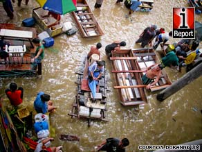 iReporter Doranne Lim chronicles the flooding from Typhoon Ketsana in Pasig City, Philippines.