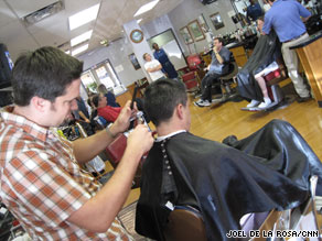 The shop also offers shoe shines and shaves to its customers, some of whom have been coming for years.