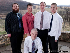 Stephan Mace, second from left, with his brothers and father.