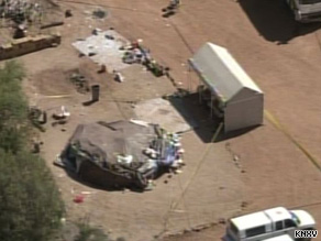 """Two people died and were 19 injured after spending up to two hours inside this """"sweatbox"""" at an Arizona resort."""