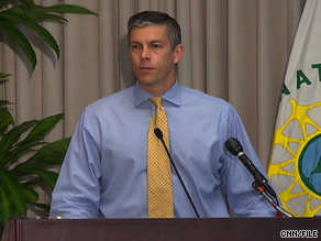 Education Secretary Arne Duncan says U.S. schools need to be better equipped to teach math.
