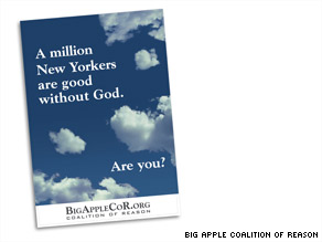 A coalition of atheist groups will place ads in New York subway stations next week.